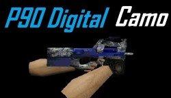 Скачать модель P90 Digital Camo для cs 1.6.
